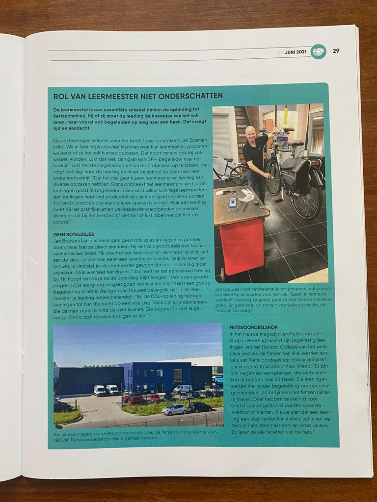 artikel magazine Tweewieler juni 2021 pagina 2