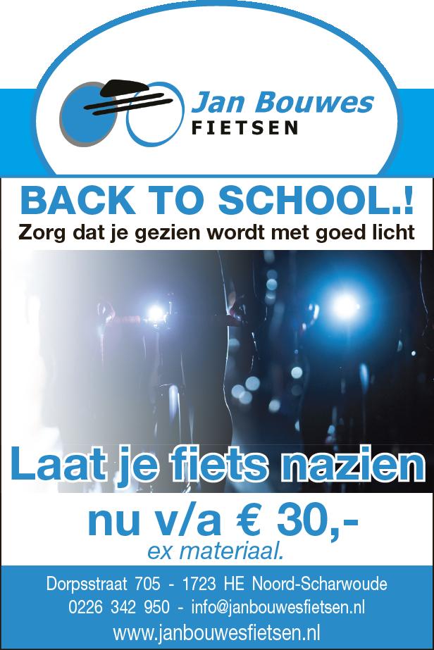 back to school aanbieiding bij Jan Bouwes Fietsen