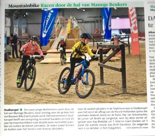 Jan Bouwes Fietsen Bike Event 2019 in het Noordhollands Dagblad